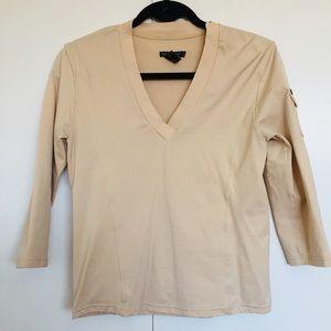 Buffalo 3/4 Sleeve Athletic Tan Colour Top Size M